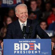 Democratic Presidential Candidate Joe Biden Holds South Carolina Primary Night Event In Columbia