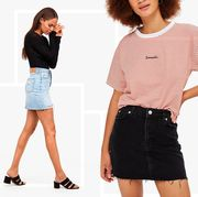 denim skirts outfits best 2018