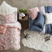 Bedding, Pillow, Furniture, Textile, Cushion, Room, Linens, Outerwear, Design, Pattern,