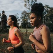 determined woman joggers