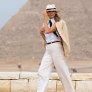 Princess Diana in Egypt; Melania Trump in Egypt