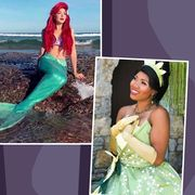 elsa and anna from frozen, snow white, belle, ariel, princess tiana