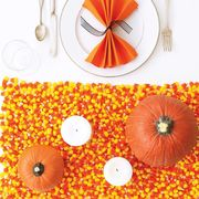 diy candy corn decorations table