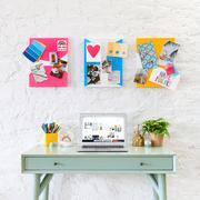 Shelf, Furniture, Wall, Shelving, Table, Font, Design, Room, Desk, Graphic design,