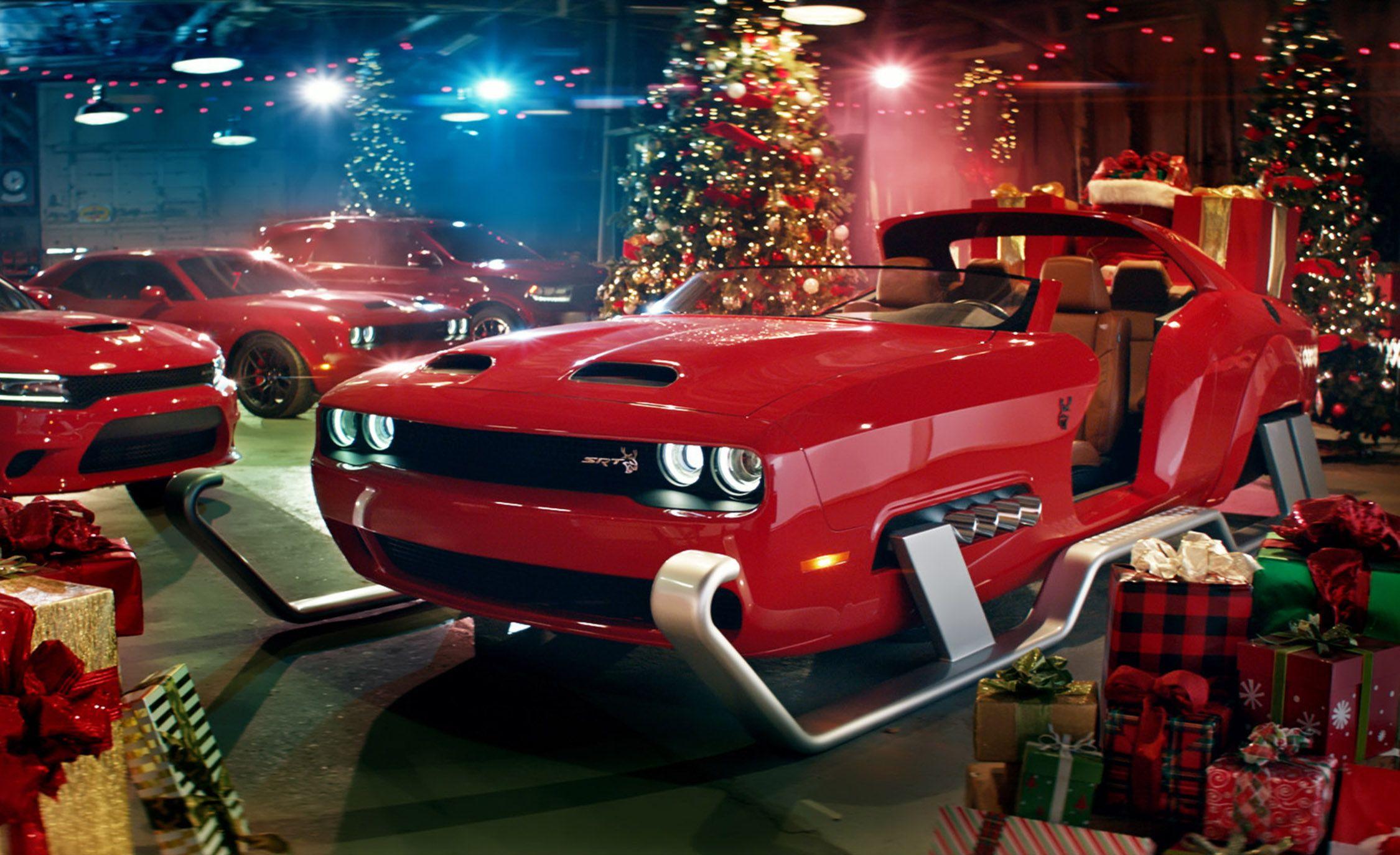 Dodge Created an Insane Challenger Hellcat Sleigh for Santa