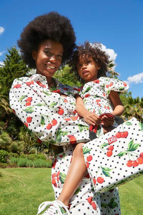dolce gabbana cherries women children girls collection polka dot cheetah