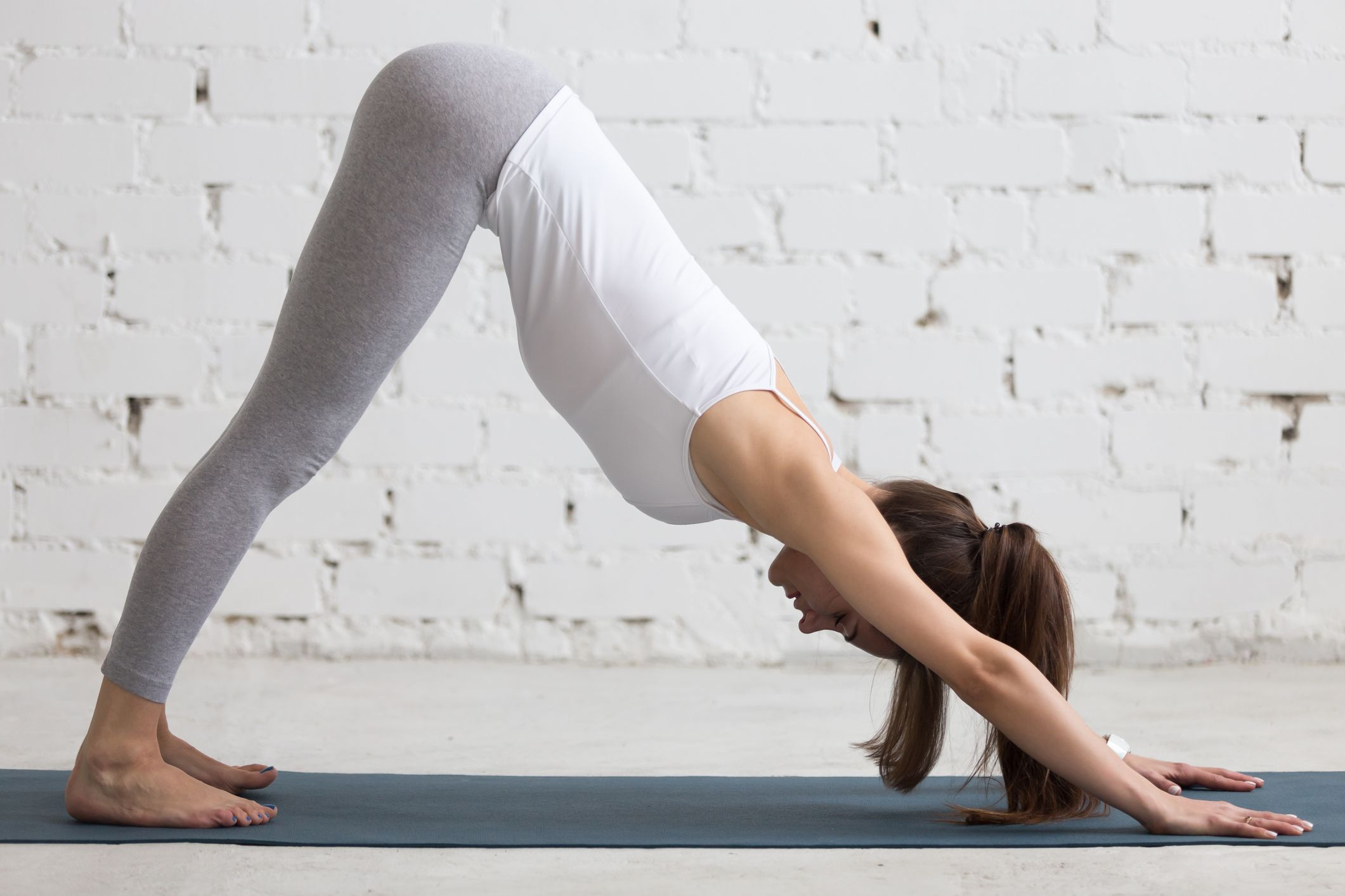Yoga Indoors: Downward Facing Dog Pose
