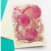Pink, Botany, Paper, Greeting card, Plant, Floral design, Paper product, Illustration, Flower, Wildflower,