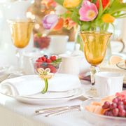 Brunch, Yellow, Meal, Table, Event, Party, Rehearsal dinner, Tableware, Textile, Tablecloth,