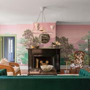 eclectic home living room