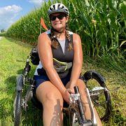 eliz martin wheelchair bike cycling