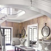 Interior design, Floor, Room, Property, Architecture, Flooring, Stairs, Ceiling, Table, Furniture,