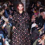Fashion, Event, Street fashion, Runway, Fashion design, Fashion show, Textile, Dress, Footwear, Performance,