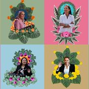 Collage, Illustration, Art, Plant, Lei, Wildflower, Flower, Photomontage, Graphic design, Floral design,