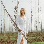 People in nature, Clothing, Tree, Beauty, Long hair, Dress, Grass, Fashion, Blond, Photography,