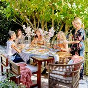 Table, Outdoor table, Furniture, Leisure, Event, Tree, Recreation, Picnic, Spring, Tablecloth,