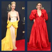 best gowns and dresses from the 2021 emmy awards red carpet