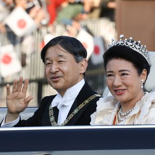 imperial parade for enthronement of naruhito in tokyo