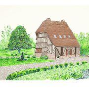 david hockney normandy house print
