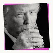 trump drinking water