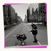 Product, Baby carriage, Pink, Roller skates, Roller skating, Baby Products, Footwear, Black-and-white, Photography, Roller sport,