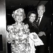 estée, evelyn, and leonard lauder in 1987