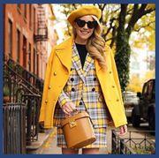 Clothing, Street fashion, Coat, Yellow, Outerwear, Fashion, Jeans, Jacket, Overcoat, Denim,