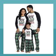 family christmas pajamas lead
