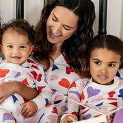 family matching valentine pajamas