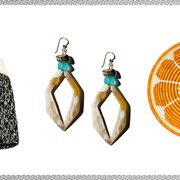 Earrings, Jewellery, Fashion accessory, Turquoise, Turquoise, Gemstone,