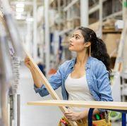 female home improvement store fills customer order
