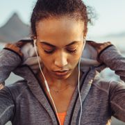 female runner on outdoors workout