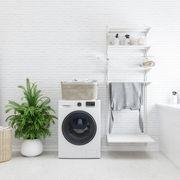 finished basement laundry room