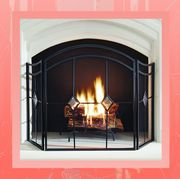 arched diamond 3 panel fireplace screen
