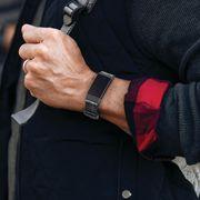 Arm, Hand, Wrist, Gesture, Finger, Suit, Thumb,