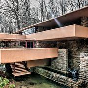 Frank Lloyd Wright's Fallingwater house back detail