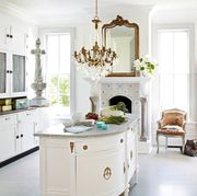 white french country style kitchen
