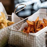 french fries, sweet potato fries