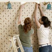 friends beginning to remove wallpaper