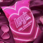 frito lay lay's wavy milk chocolate covered potato chips valentine's day