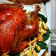 Meal, Food, Dish, Thanksgiving dinner, Drunken chicken, Meat, Cuisine, Roast goose, Hendl, Peking duck,