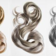 Hair, Hairstyle, Hair coloring, Brown, Blond, Artificial hair integrations, Brown hair, Silver, Long hair, Human,