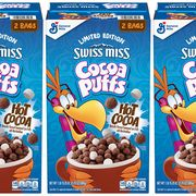 general mills cocoa puffs swiss miss hot cocoa cereal
