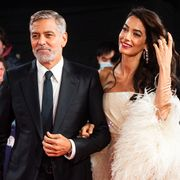 george and amal clooney at the tender bar premiere