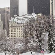 Snow, Winter, Urban area, City, Metropolitan area, Blizzard, Skyscraper, Daytime, Human settlement, Winter storm,