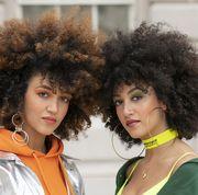 Hair, Afro, Hairstyle, Jheri curl, Fashion, Human, Wig, Fun, Black hair, Hair coloring,