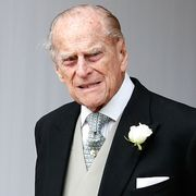 britains prince philip, duke of edinburgh waits for the carriage carrying princess eugenie of york and her husband jack brooksbank to pass at the start of the procession after their wedding ceremony at st georges chapel, windsor castle, in windsor, on october 12, 2018 photo by alastair grant  pool  afp photo by alastair grantpoolafp via getty images