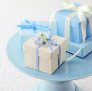 Blue, Party supply, Ribbon, Aqua, Teal, Turquoise, Azure, Electric blue, Present, Party favor,