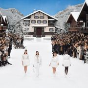 Fashion, Winter, Snow, Event, Fun, Crowd, Freezing, Haute couture, House, Runway,