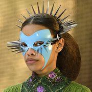 Face, Head, Fashion, Mask, Masque, Headpiece, Hair accessory, Costume,